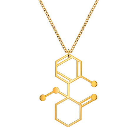 Ketamine (Special K) molecular necklace