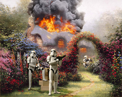 Crappy Thomas Kinkade paintings get the 'Star Wars' treatment