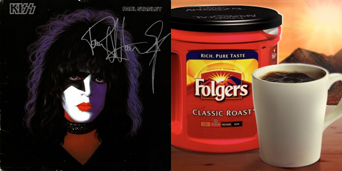 At long last, Paul Stanley's ridiculous Folgers coffee commercial surfaces