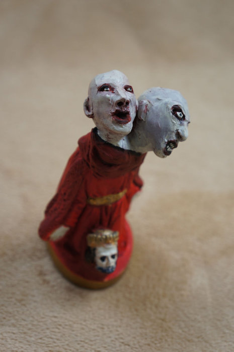 Two-headed Krampus nativity scene character