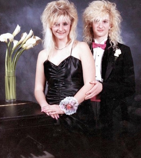 Layne Staley attending the Shorewood Prom in 1986
