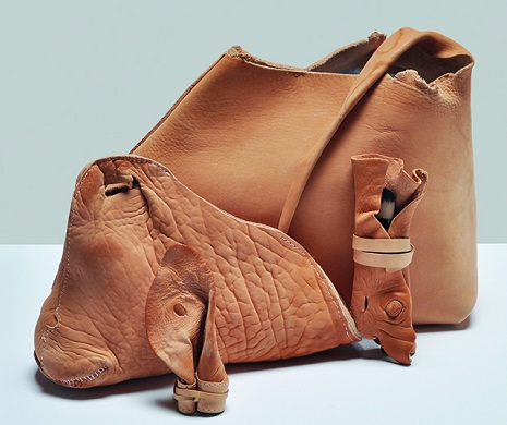 'Designer' handbags made from the scrap leather of ears, tails and faces