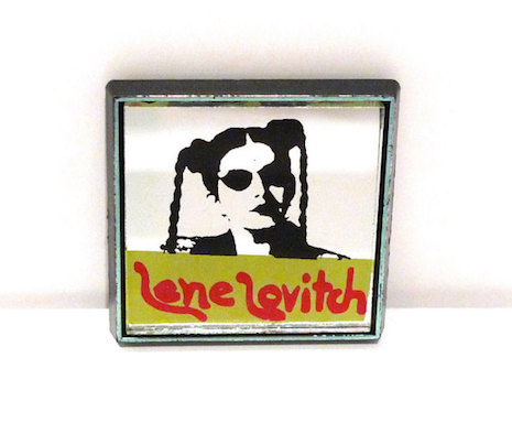 Lene Lovich mirror badge, 80s