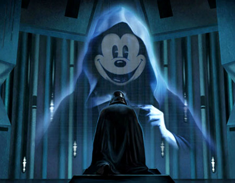 The future of Star Wars:  Lucas vs. Disney mash-up