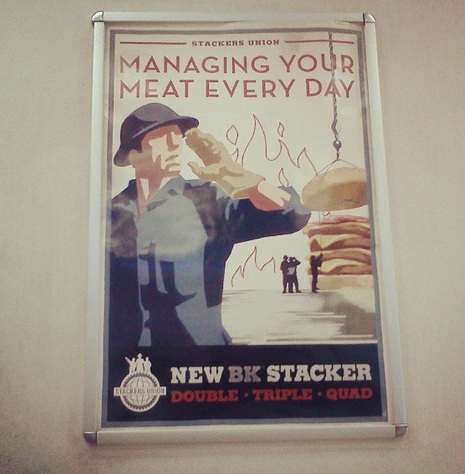 Burger King fake union poster