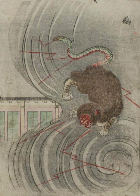 Weird monsters of Japanese folklore  02Nue_465_650_int
