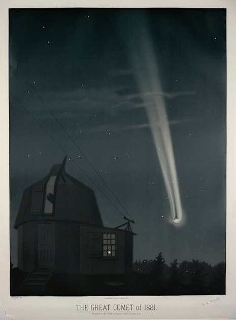Maps to the Stars: Beautiful astronomical drawings from the 19th century  10greatcomet1881_465_629_int