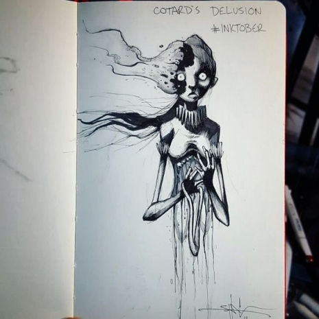 Artist sketches haunting illustrations of mental illness & emotional disorders (...) @Dangerous Minds Artes & contextos 14484859 748226558765 8271383646835379537 n 5804f6c0901bf 605 465 465 int