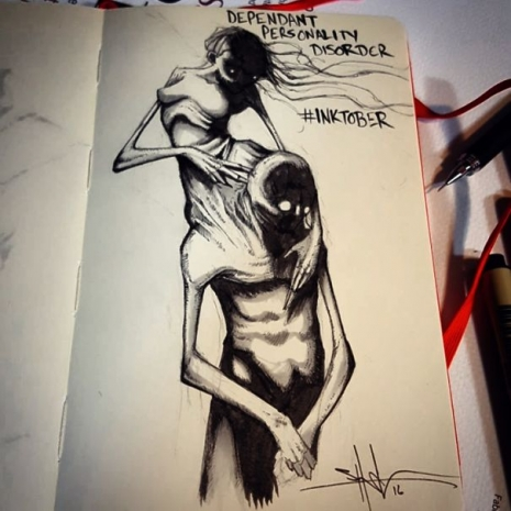 Artist sketches haunting illustrations of mental illness & emotional disorders (...) @Dangerous Minds Artes & contextos 14563462 748532710235 7702106841759440203 n 5804f6c8cfffe 605 465 465 int