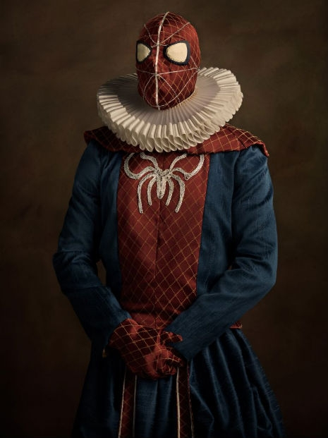 Superheroes and Supervillains Reimagined as 16th Century Aristocrats @Dangerous Minds Artes & contextos 15 07 13 Super H%C3%A9ros Flamands  16 spiderman 0827 08 465 621 int