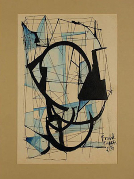 Wowie Zowie: The early beatnik-style artwork of Frank Zappa  1959-01_painting_465_620_int