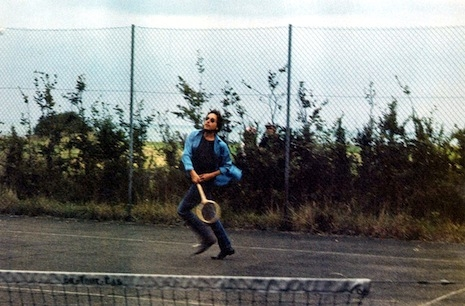 Bob Dylan playing tennis