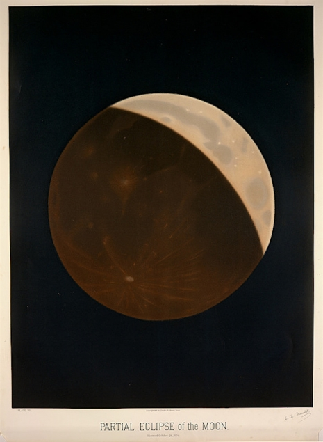 Maps to the Stars: Beautiful astronomical drawings from the 19th century  3parteclipmoon_465_635_int