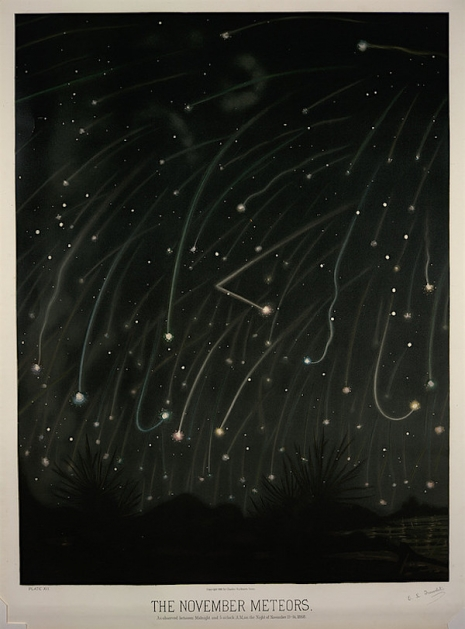 Maps to the Stars: Beautiful astronomical drawings from the 19th century  5novmeteors_465_629_int