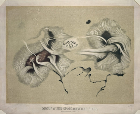 Maps to the Stars: Beautiful astronomical drawings from the 19th century  7sunspotsveiledspots_465_379_int