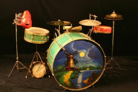 cool stuff they used to paint on bass drum heads in the 20s and 30s dangerous minds. Black Bedroom Furniture Sets. Home Design Ideas