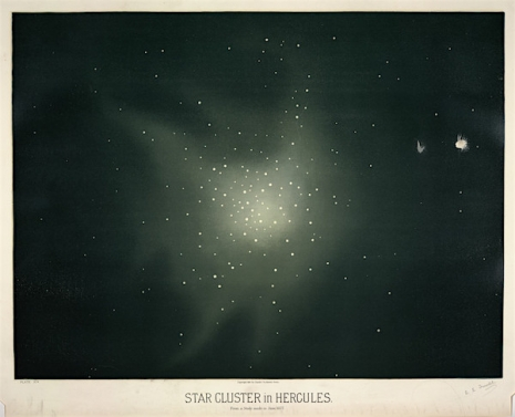 Maps to the Stars: Beautiful astronomical drawings from the 19th century  8starclustershercules_465_377_int