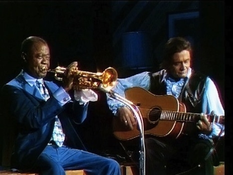 Louis Armstrong and Johnny Cash