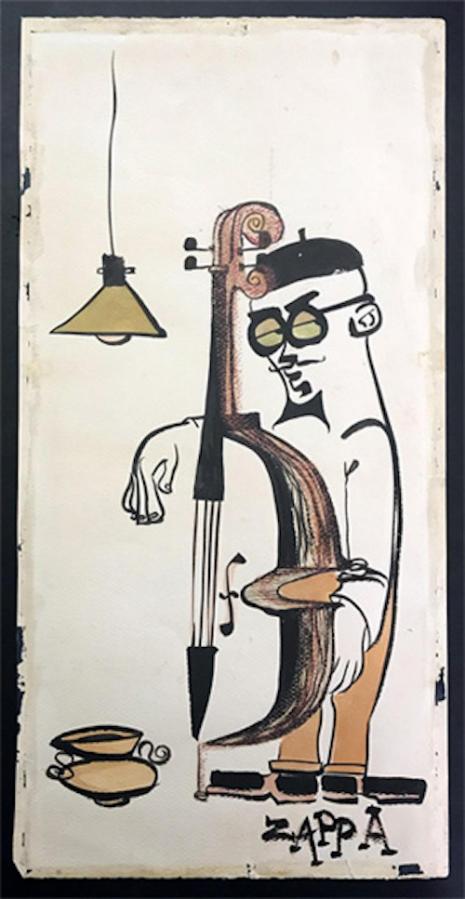 Wowie Zowie: The early beatnik-style artwork of Frank Zappa  BassPlayer_465_899_int