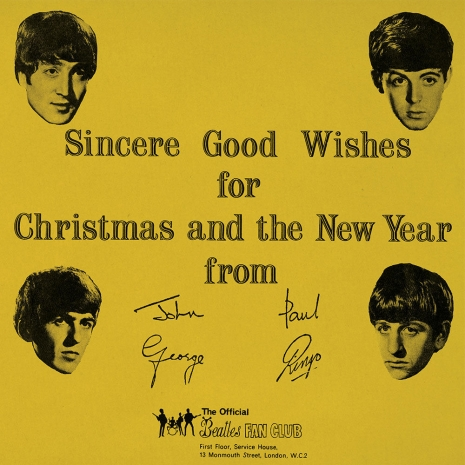 The strange tale of the unauthorized albums of the Beatles Christmas recordings Beatles_Christmas_1963_cover_465_465_int