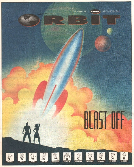 Glenn Barr's Art for the debut issue of The Orbit
