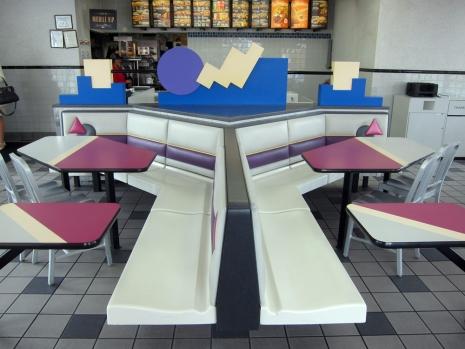 Retro Wonderland Exploring The Postmodern Aesthetics Of 90s Taco Bell Interior Design Dangerous Minds