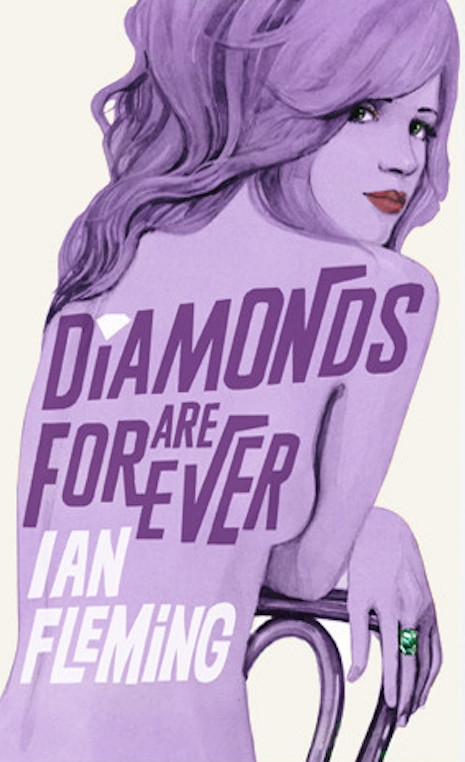 The 2008 book cover update to Ian Fleming's 1956 novel, Diamonds Are  Forever by Michael Gillette