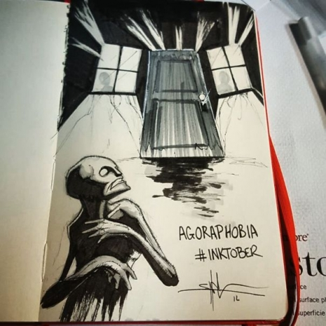 Artist sketches haunting illustrations of mental illness & emotional disorders (...) @Dangerous Minds Artes & contextos For inktober I focused on Mental illness and disorders 5805cea25c42c 605 465 465 int