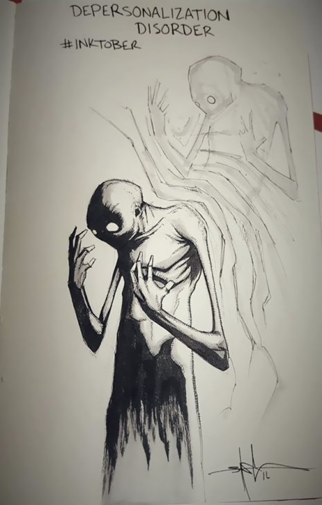Artist sketches haunting illustrations of mental illness & emotional disorders (...) @Dangerous Minds Artes & contextos For inktober I focused on Mental illness and disorders 5805d03932229 605 465 729 int