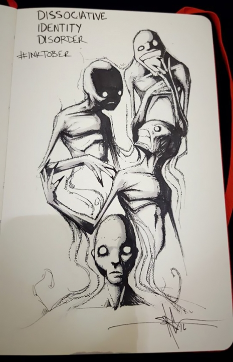 Artist sketches haunting illustrations of mental illness & emotional disorders (...) @Dangerous Minds Artes & contextos For inktober I focused on Mental illness and disorders 5805d03d67c9b 605 465 721 int