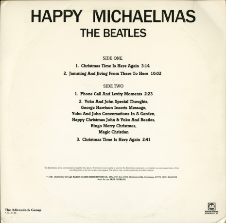 The strange tale of the unauthorized albums of the Beatles Christmas recordings Happy_Michaelmas_back_copy_465_459_int