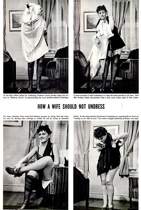 How not to undress