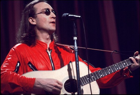 John Lennon in his red jumpsuit