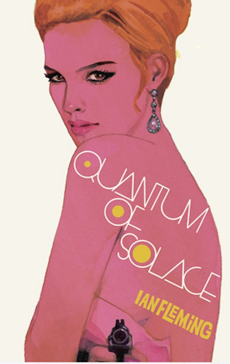 A print of the 2008 cover for the reissue of Ian Fleming's short story (found in 1960's For Your Eyes Only), Quantum of Solace