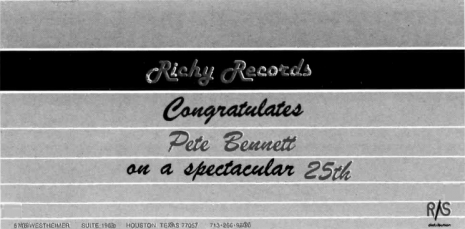 Richy Records ad