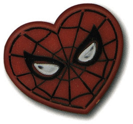 Spider-Man wedding pin