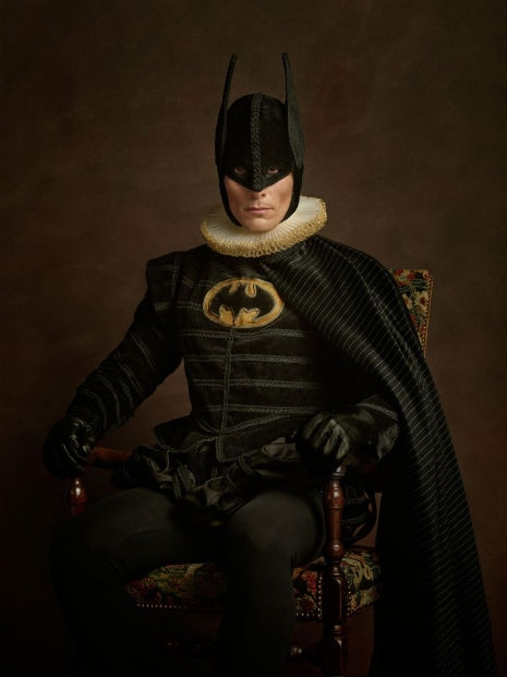 Superheroes and Supervillains Reimagined as 16th Century Aristocrats @Dangerous Minds Artes & contextos SuperHerosFlamands Batman RGB1998 011 465 621 int