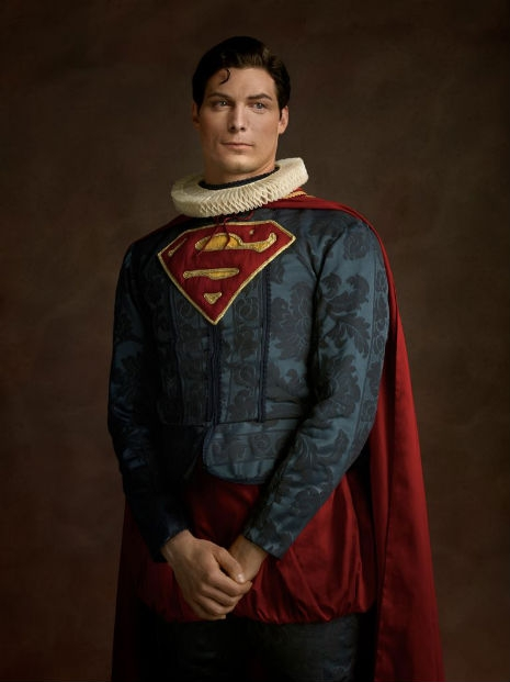 Superheroes and Supervillains Reimagined as 16th Century Aristocrats @Dangerous Minds Artes & contextos SuperHerosFlamands Superman RGB1998 031 465 621 int