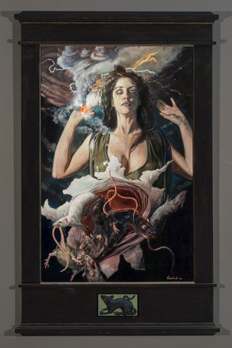Lustful and lush paintings depicting 'The Seven Deadly Sins' by Gail Potocki Artes & contextos Wrath DM 465 698 int