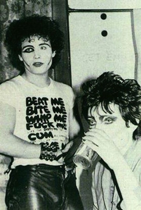 Adam Ant and Sioux Siesioux backstage