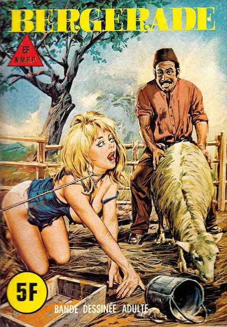 Beastiality themed adult comic from Italy, 1970s/1980s