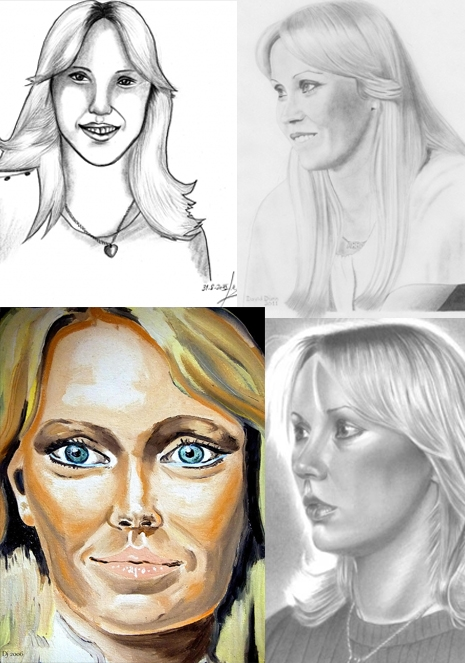 Agnetha Portraits - Saturday Morgen Cartoons 3