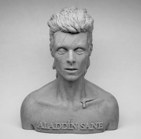 Aladdin Sane 1/4 scale wax bust with cat fur by Switchum