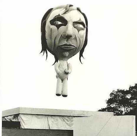 The Alice Cooper balloon floating up and away, September, 1975
