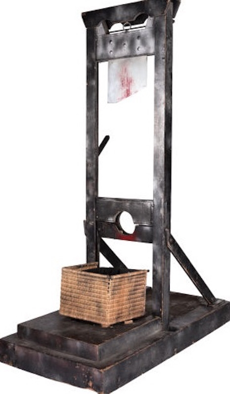 The guillotine used during Alice Cooper's Billion Dollar Babies tour, 1973
