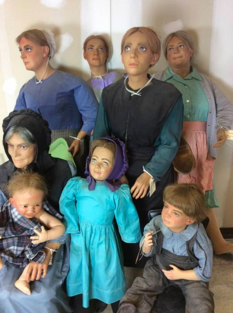Buy these creepy wax figures of Amish people that have been missing