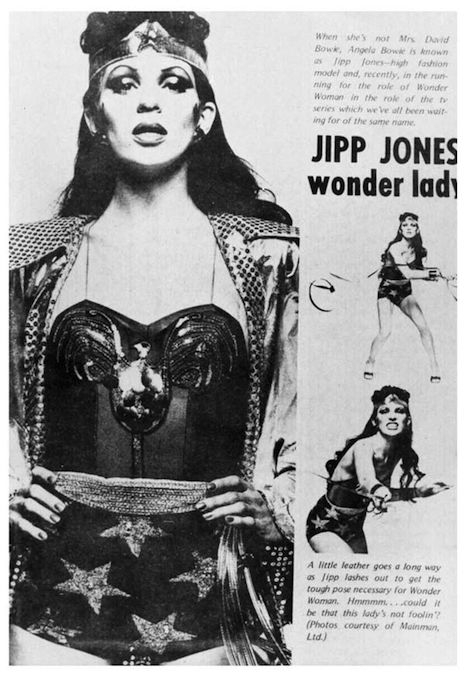 Angie Bowie as Wonder Woman