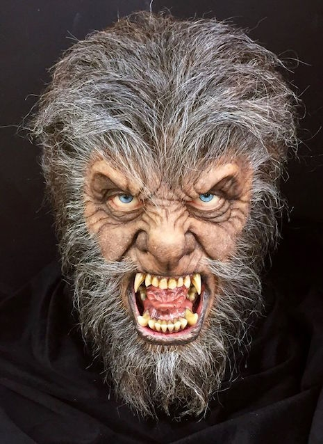 Face sculpture of Anthony Hopkins as the Wolfman from the 2010 film, The Wolfman