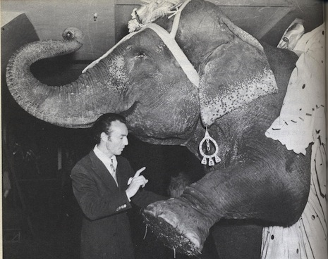 George Balanchine with elephant