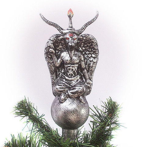 Baphomet glass tree topper